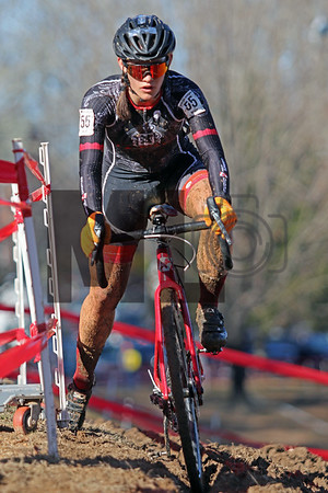 Hannah Arensman (55)  competes in the NC Cyclocross North Carolina Grand Prix at Jackson Park in Hendersonville, N.C., on Nov. 24, 2019