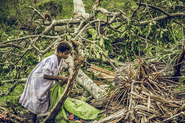Vanuatu, Tanna, Enefa, Cyclone Pam 1