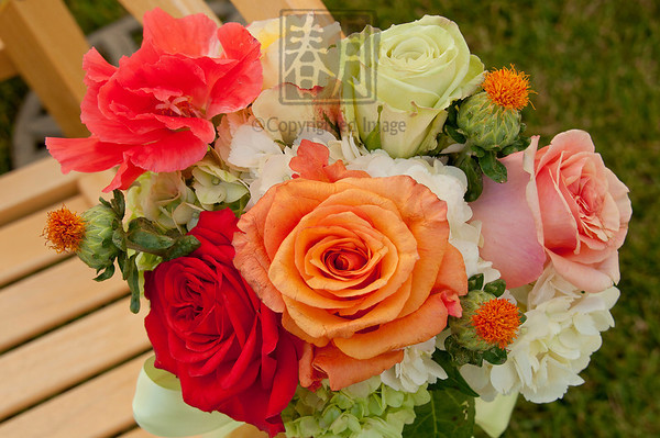 Wedding aisle bouquet