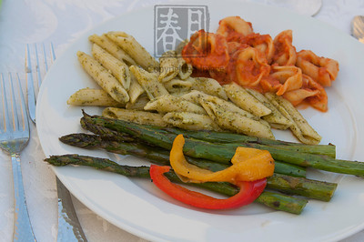 Roasted Asparagus, Sweet Peppers & Pasta