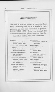 The Cypress Press, 1925, Introduction to Advertisements, pg. 38