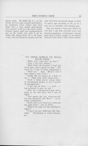 """The Cypress Tree, 1925, """"The Life of a Forest Ranger"""", Thos. W. Alexander, """"By Their Speech Ye Shall Know Them"""", pg. 15"""