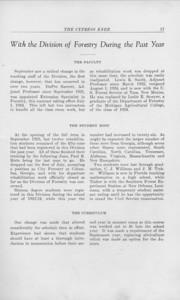 """The Cypress Knee, 1925, """"With the Division of Forestry During the Past Year"""", pg. 17"""