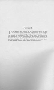 The Cypress Knee, 1925, Foreward