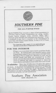 """The Cypress Knee, 1925, """"Southern Pine Association"""", pg 44"""