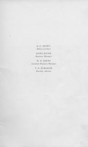 The Cypress Knee, 1925, Staff Listing