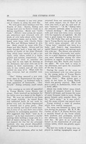 "The Cypress Knee, 1925, ""Camp Lore"", C. Bernard Beale, pg. 26"