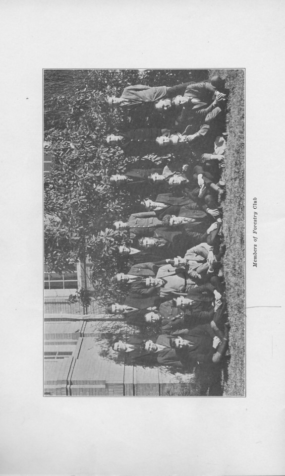 The Cypress Knee, 1925, Members of the Forestry Club.