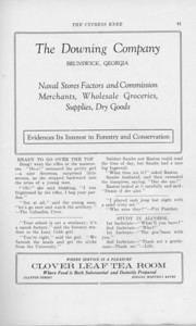 """The Cypress Press, 1925, """"The Downing Company"""", """"Clover Leaf Tea Room"""", pg. 41"""
