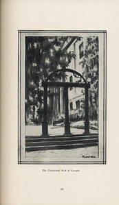"""The Cypress Knee, 1929, """"The Traditional Arch of Georgia"""", pg. 39"""