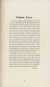 The Cypress Knee, 1929, Editor's Note, pg. 49