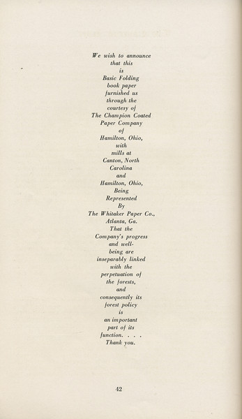 The Cypress Knee, 1929, About the Book, pg. 42