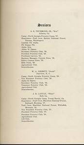 The Cypress Knee, 1929, Senior Listing, A. K. Thurmond Jr., W. A. Nesbitt, J. B. Lattay, pg. 9