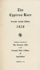 The Cypress Knee, 1929, Title Page