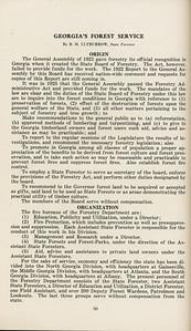 "The Cypress Knee, 1929, ""Georgia's Forest Service"", B. M. Lufburrow, Origin, Organization, pg. 50"