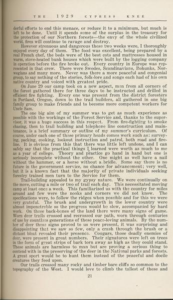 "The Cypress Knee, 1929, ""West of the Cascades"", A. K. Thurmond Jr., pg. 21"