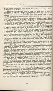 "The Cypress Knee, 1929, ""The Exclusive Club"", W. A. Nesbitt, pg. 14"