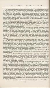 "The Cypress Knee, 1929, ""Georgia's Forest School Shows Progress"", K. S. Trowbidge, pg. 36"