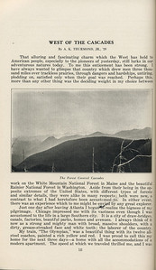 """The Cypress Knee, 1929, """"West of the Cascades"""", A. K. Thurmond Jr., """"The Forest Covered Cascades"""", pg. 18"""