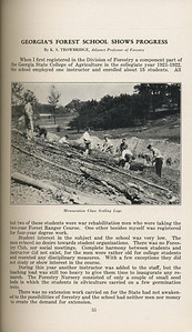 "The Cypress Knee, 1929, ""Georgia's Forest School Shows Progress"", K. S. Trowbridge, ""Mensuration Class Sealing Logs"", pg. 35"