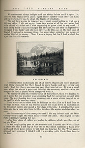 """The Cypress Knee, 1929, """"My Summer in the Rockies"""", E. F. Boyd, """"A Bit of the West"""", pg. 31"""