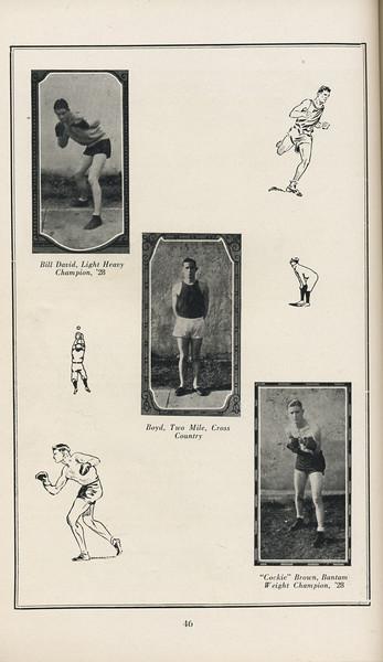 "The Cypress Knee, 1929, Forestry School in Athletics, Bill David, Boyd, ""Cockie"" Brown, pg. 46"