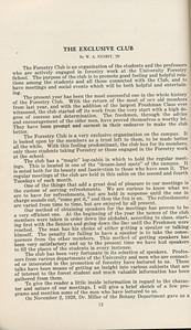 "The Cypress Knee, 1929, ""The Exclusive Club"", W. A. Nesbitt, pg. 12"