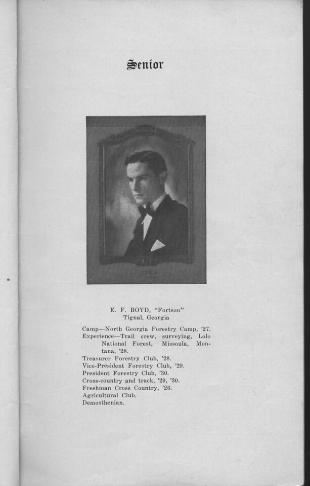 The Cypress Knee, 1930, Senior, E. F. Boyd, pg. 5