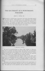 "The Cypress Knee, 1931, ""The Southeast as a Sportsman's Paradise"", Robt. U. Titus, ""A Fisherman's Paradise"", pg. 53"