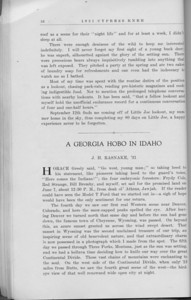"The Cypress Knee, 1931, ""Eighty Days with 'Little Joe'"", W. C. Henry, ""A Georgia Hobo in Idaho"", J. H. Rasnake, pg. 26"