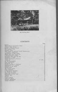 The Cypress Knee, 1931, Table of Contents