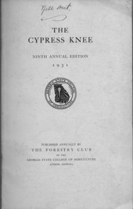 The Cypress Knee, 1931, Title Page