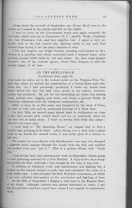 "The Cypress Knee, 1931, ""Just Another Georgia Forester in Montana"" (continued), ""On the Shenandoah"" (continued), pg. 41"