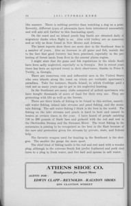 "The Cypress Knee, 1931, ""The Southeast as a Sportsman's Paradise"" (continued), Athens Shoe Co., pg. 54"