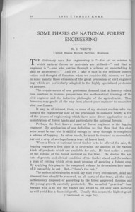 "The Cypress Knee, 1931, ""Some Phases of National Forest Engineering"", W. I. White, pg. 20"