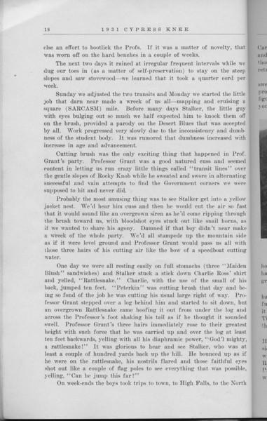 "The Cypress Knee, 1931, ""Summer Camp"", Peterkin, pg. 18"