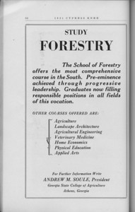 The Cypress Knee, 1931, School of Forestry advertisement, pg. 52