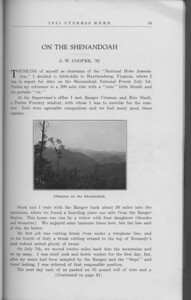 "The Cypress Knee, 1931, ""On the Shenandoah"", J. W. Cooper, ""Glimpses on the Shenandoah"", pg. 35"