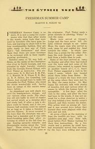 "The Cypress Knee, 1934, ""Freshman Summer Camp"", Marvin E. Nixon, pg. 26"