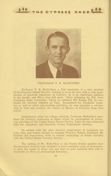 The Cypress Knee, 1934, Professor T. B. McKeithen, pg. 18