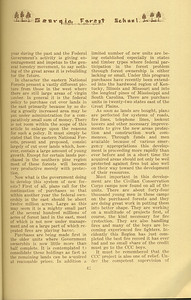 """The Cypress Knee, 1934, """"Recent and Future Development the Eastern National Forests"""" (continued), Joseph C. Kircher, pg. 41"""