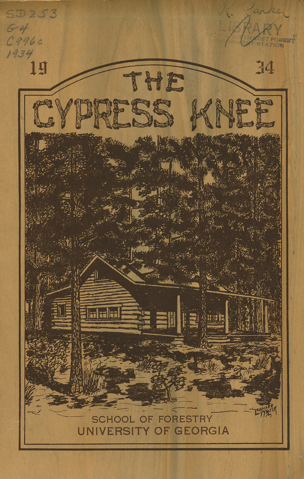 The Cypress Knee, 1934, Front Cover