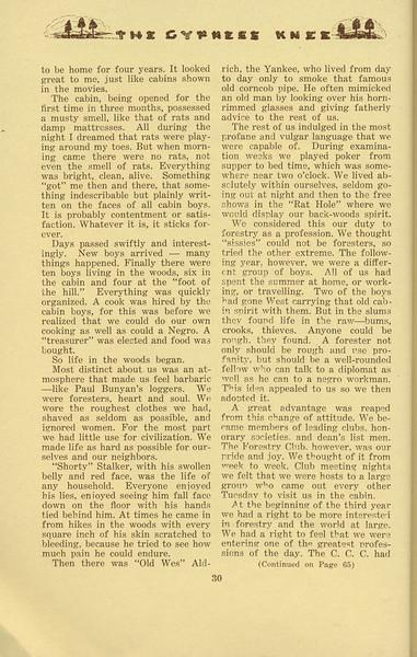 "The Cypress Knee, 1934, ""With the Woods Boys"", W. E. Shelfer, pg. 30"