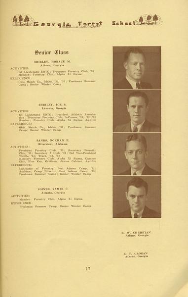 The Cypress Knee, 1934, Senior Class,  Horace M. Shirley, Joe B. Shirley, Norman E. Sands, James C. Joiner, pg. 17
