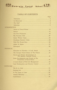 The Cypress Knee, 1934, Table of Contents, pg. 7