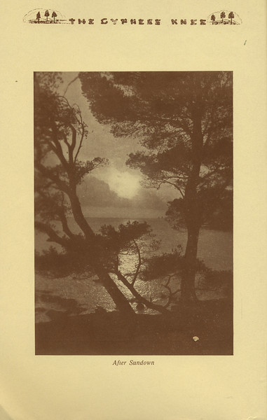 """The Cypress Knee, 1934, """"After Sundown"""", pg. 4"""