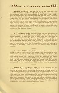 "The Cypress Knee, 1934, ""Seniors- Packin' Out"", Ernest Hinson, J. C. Joiner, W. Lewis Lane, Frank M. Langford, pg. 54"