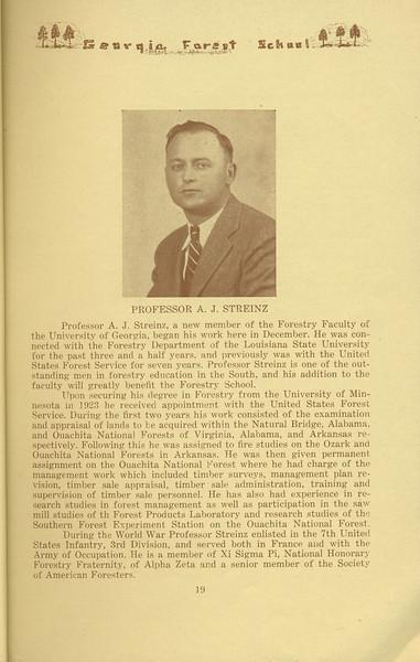The Cypress Knee, 1934, Professor A. J. Streinz, pg. 19
