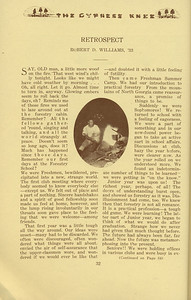 "The Cypress Knee, 1934, ""Retrospect"", Robert D. Williams, pg. 32"