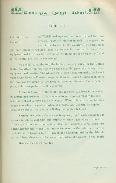 The Cypress Knee, 1935, Editorial, pg. 13